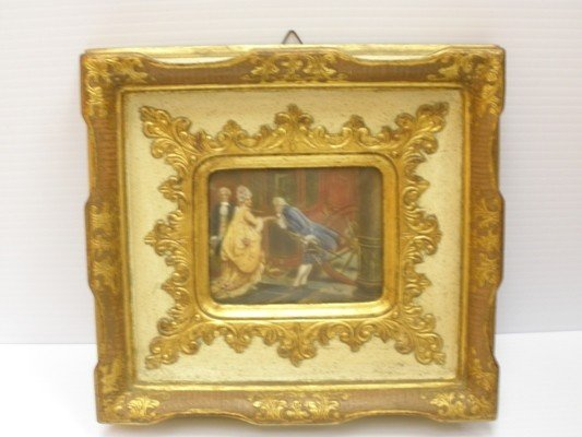 1: FRAMED MINIATURE PAINTING