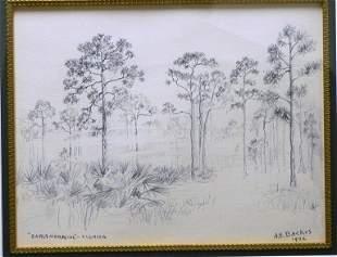 "A .E. Backus ""Early Morning Florida """