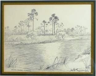 "A .E. Backus ""Canal Bank Florida"""