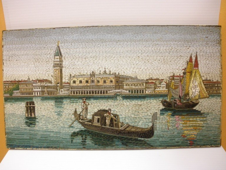 19: A mid-19th century Italian micro mosaic Panel of th