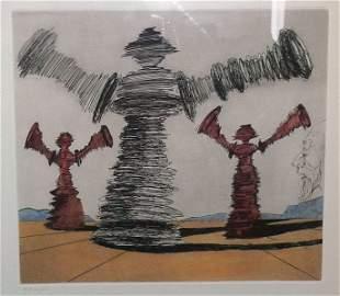 "Salvador Dali ""The spinning man"""