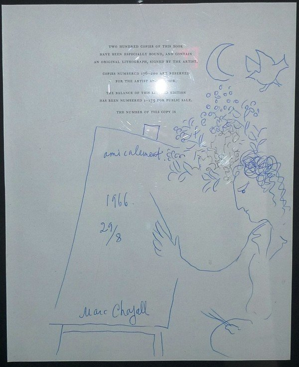 """23: Marc Chagall """"Self portrait with crescent moon"""""""