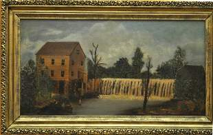 OIL ON WOOD COUNTRY SCENE