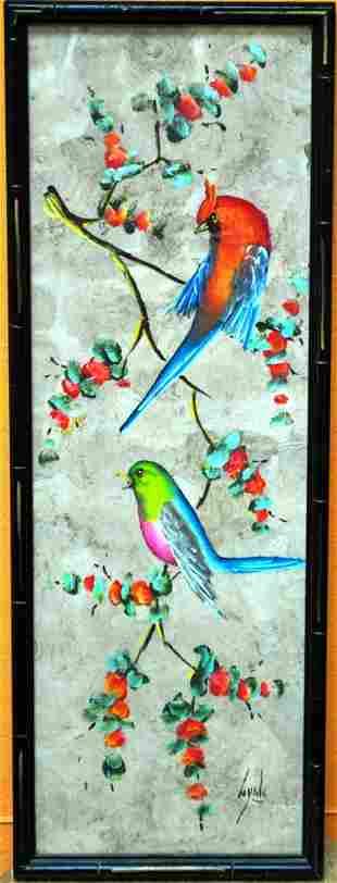 ORIGINAL WATER COLOR BIRD DRAWINGS