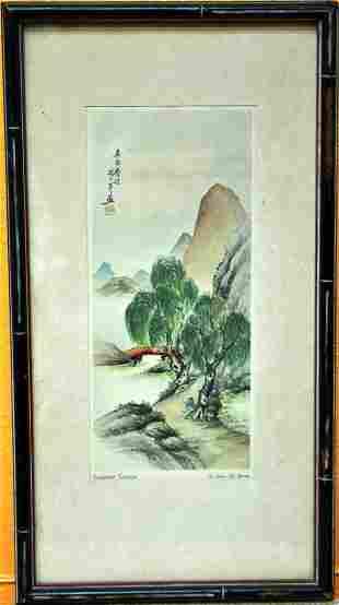 ORIGINAL CHINESE WATER COLOR DRAWINGS