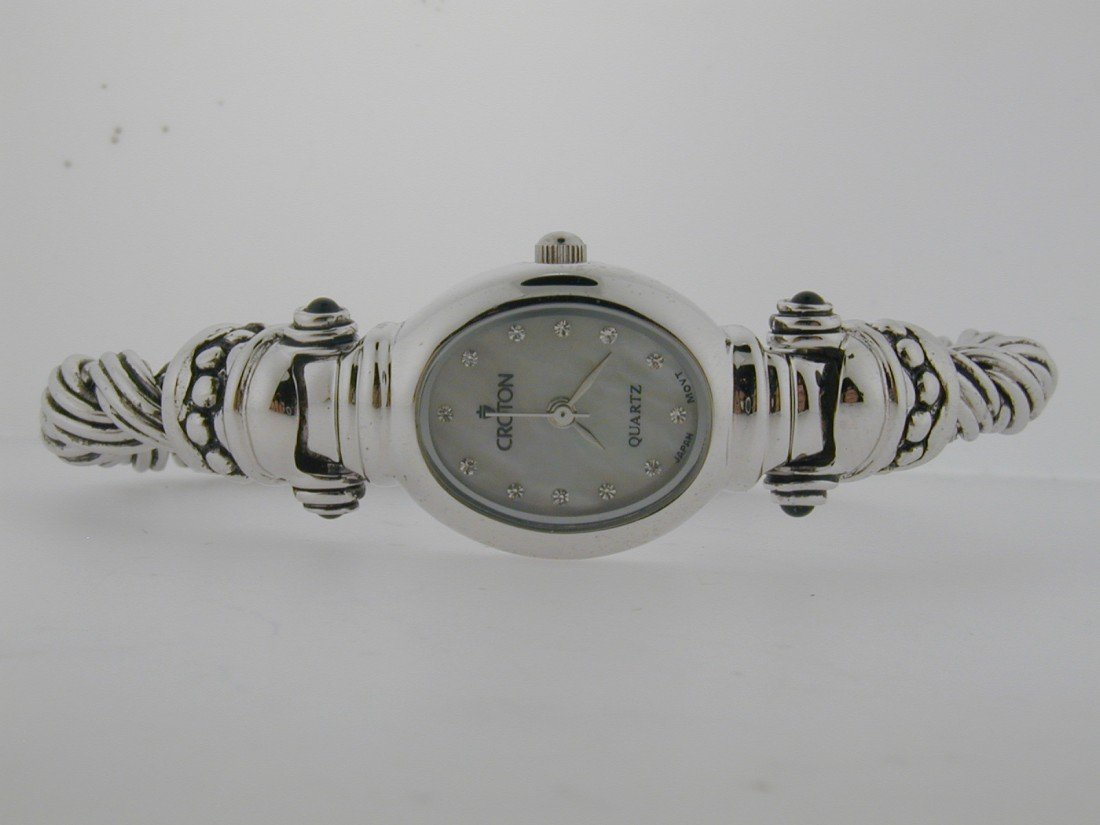 148: Sterling Silver Ladies Croton Watch