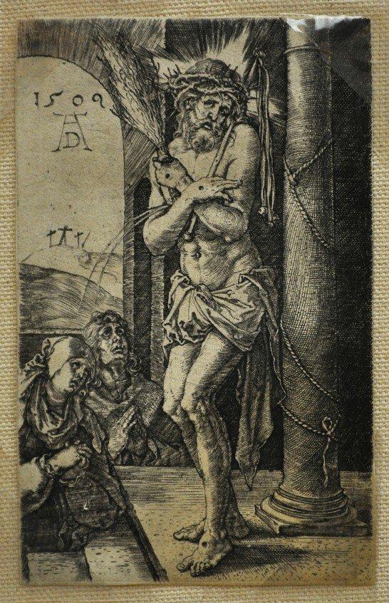 """8: Albrecht Durer (German  1471-1528)  """"Man of Sorrow E"""