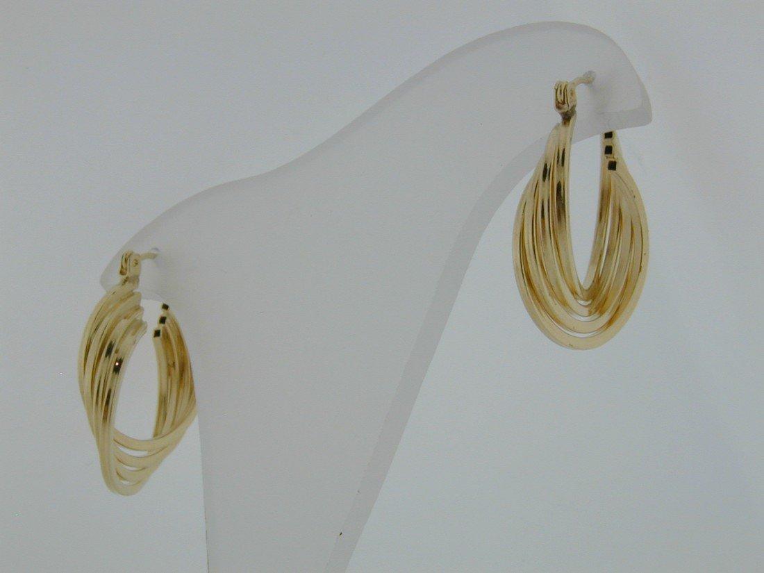 125: Gold quadruple twist hoops