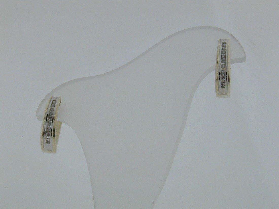 126: 1/4 ct diamond loop earrings