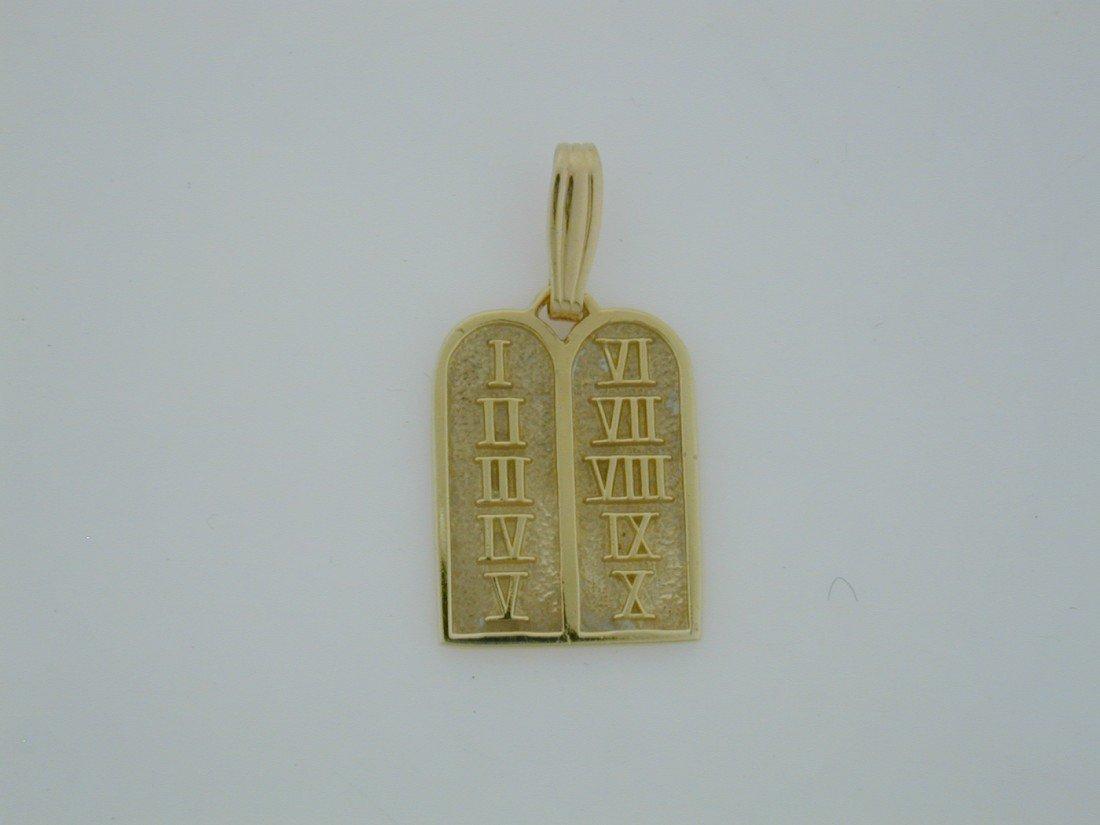 129: Ten Comandments pendant  GOLD