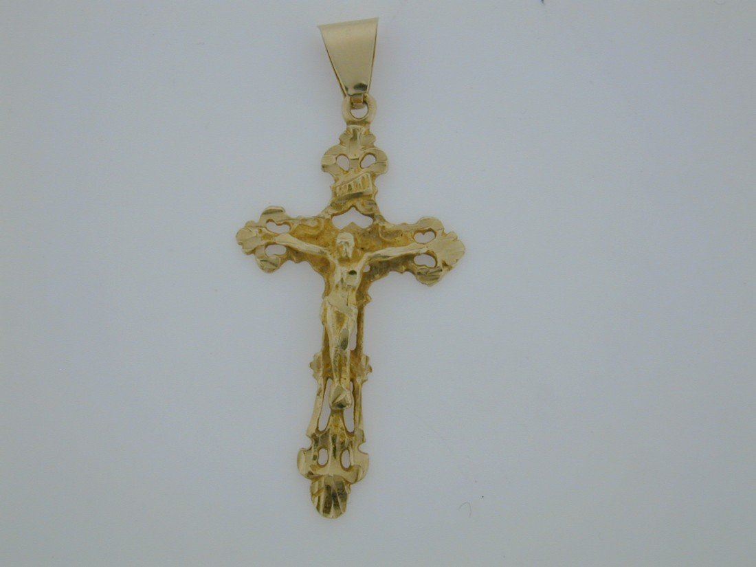 135: Large GOLD Crucifix