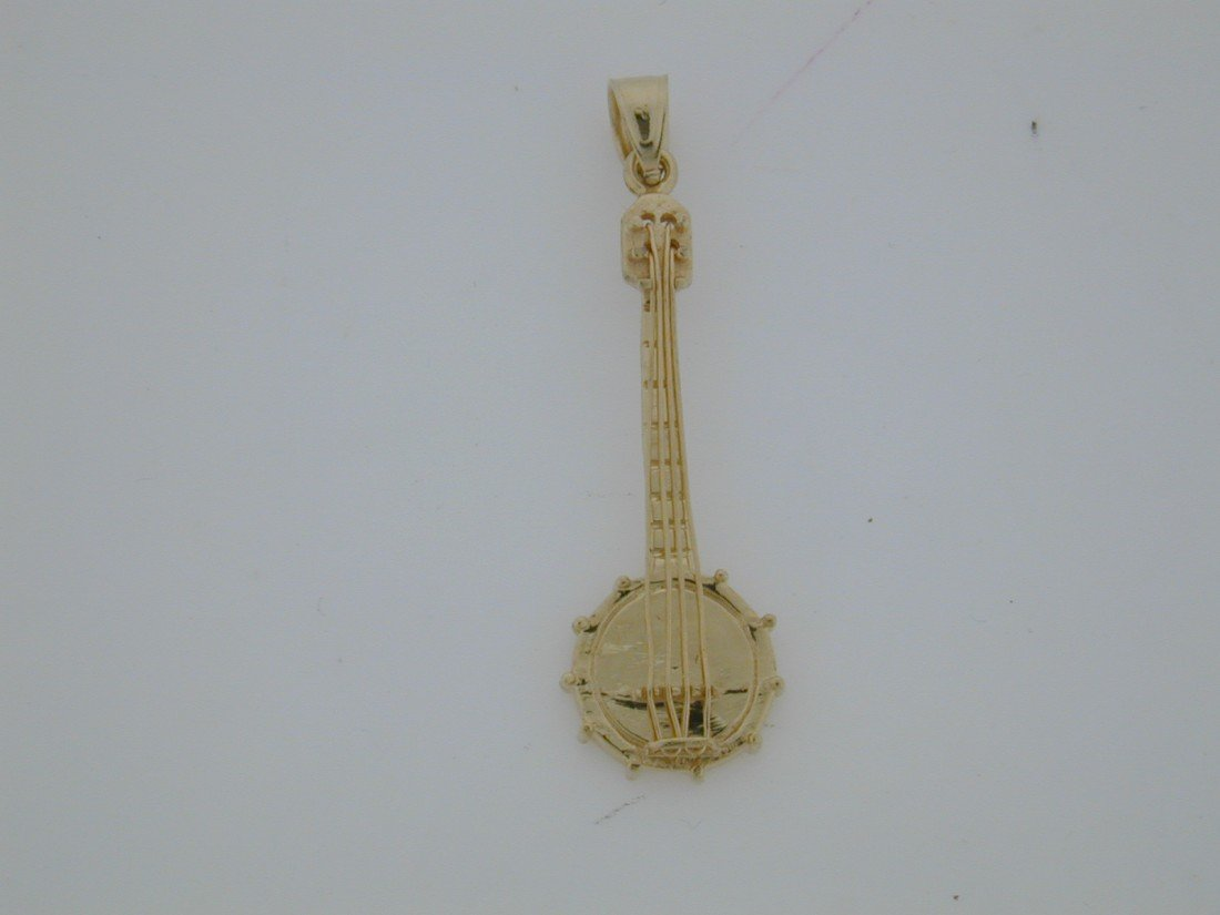 136: Tiffany & Co. GOLD Banjo pendant