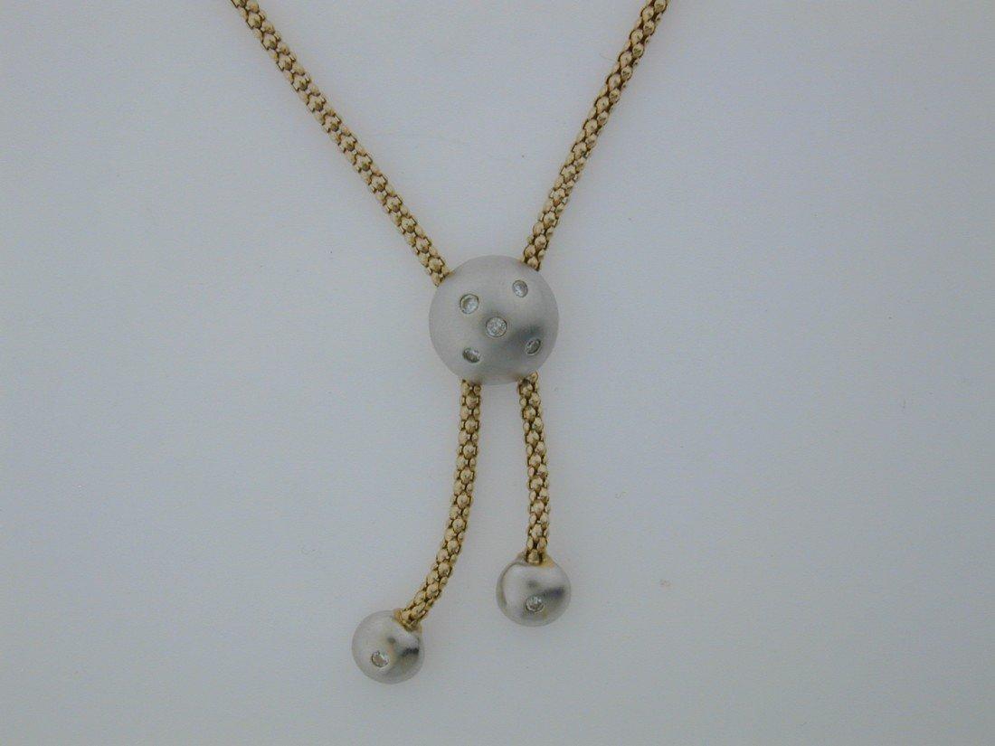 142: Popcorn Diamond bead necklace