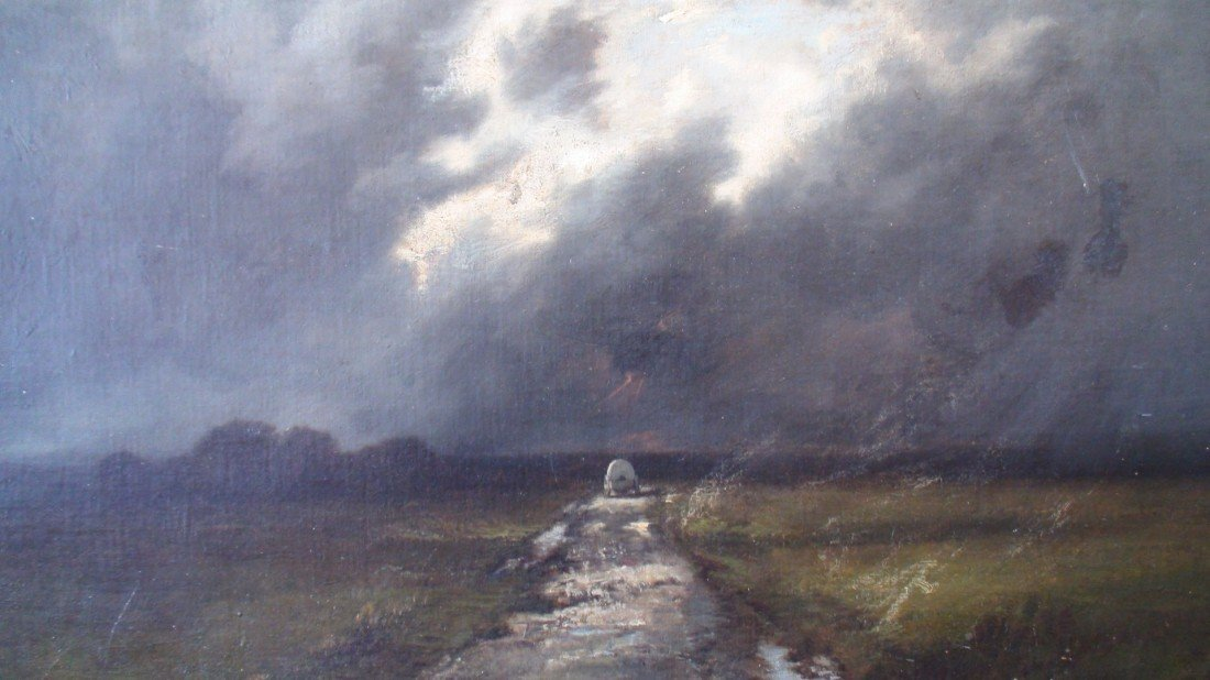 4: LEON RICHET LANDSCAPE OIL ON CANVAS