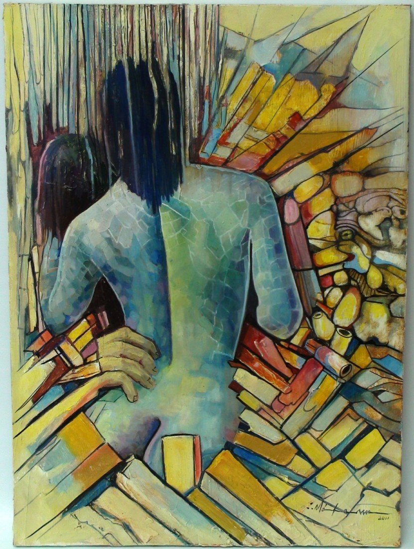 6: MAKAM (CUBAN) OIL ON CANVAS 2011