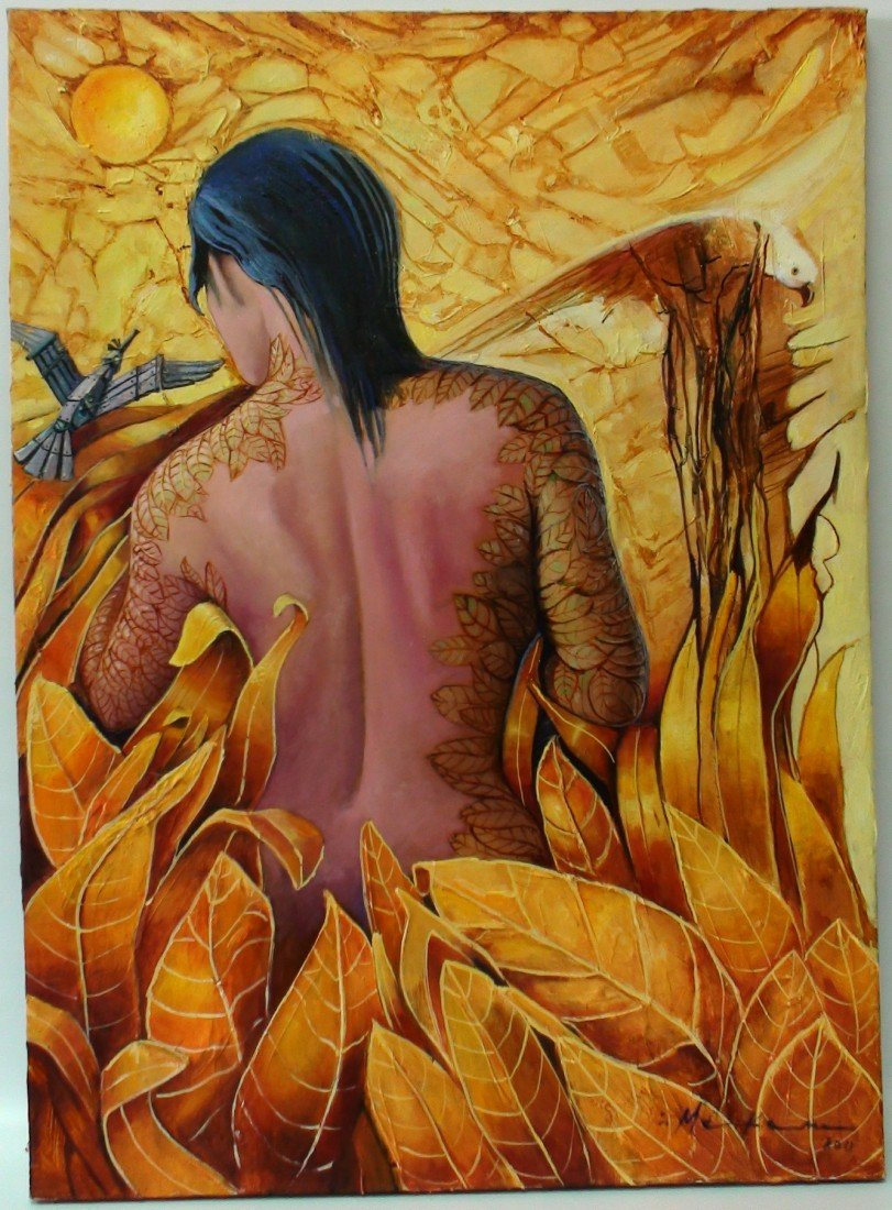 8: MAKAM (CUBAN) OIL ON CANVAS 2011