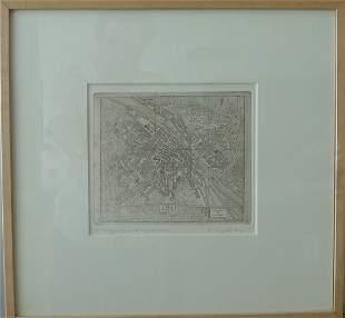 """Rudi Pozzatti """"Map of Florence"""""""