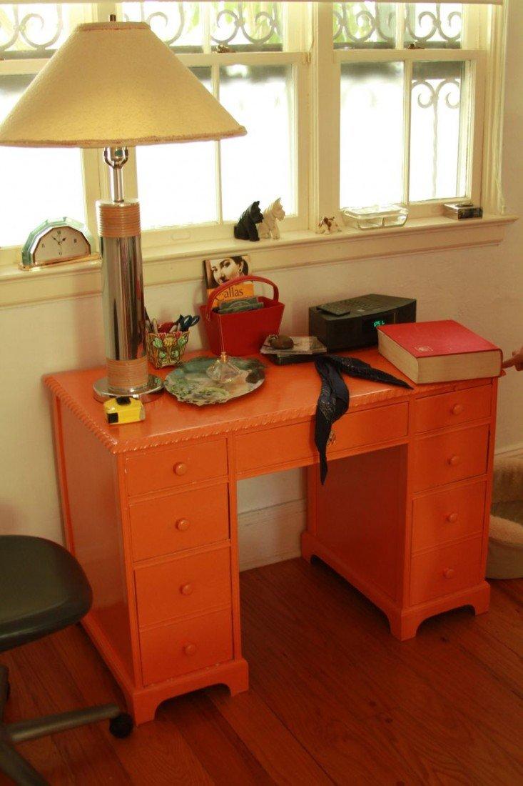 1: Orange Desk and Chair