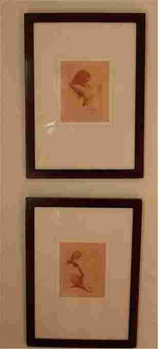 Pair of art Deco Prints