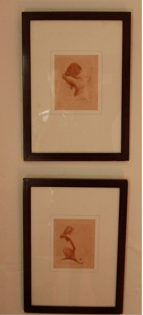 12: Pair of art Deco Prints