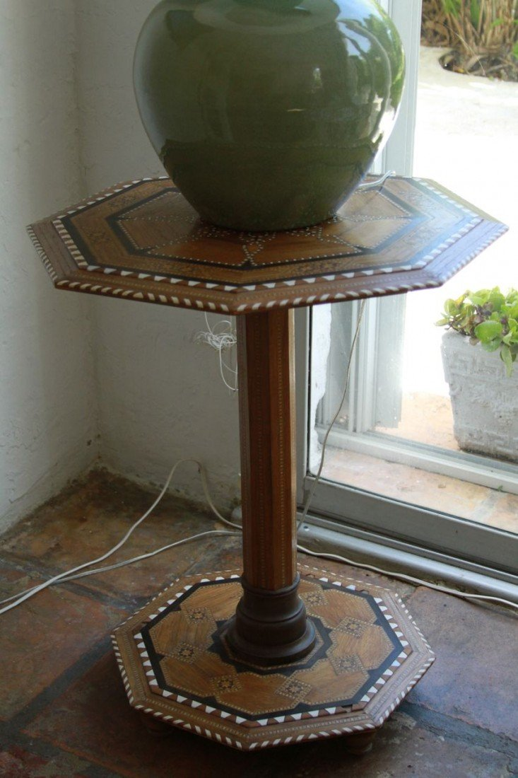15: Syrian inlaid table