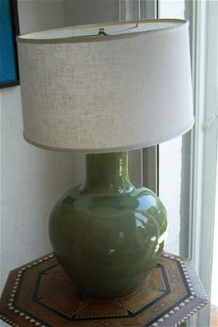 Green Lamp with White shade
