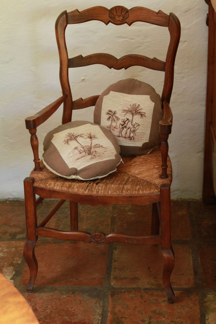 21: French Provencal chair with wicker seat