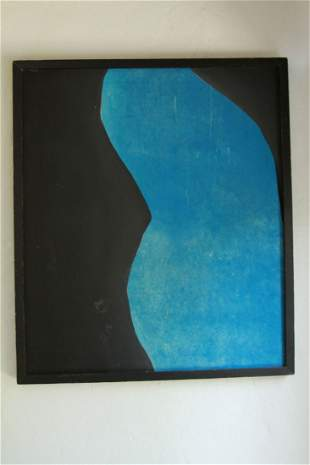 Black and Blue Painting