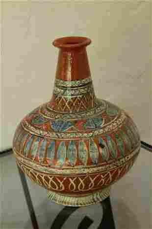 Turkish terracotta vase
