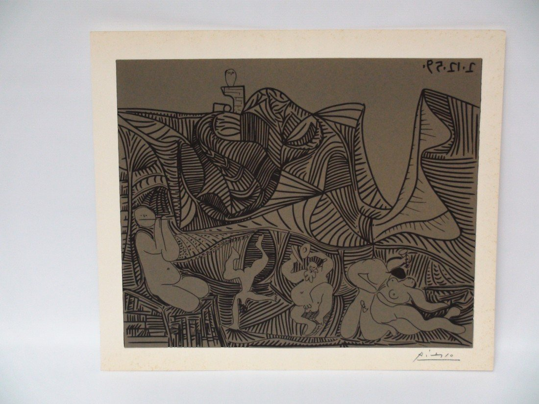 7: PABLO PICASSO SIGNED LITHOGRAPH