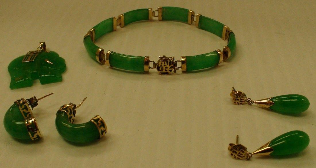 164: jade and gold ladies set