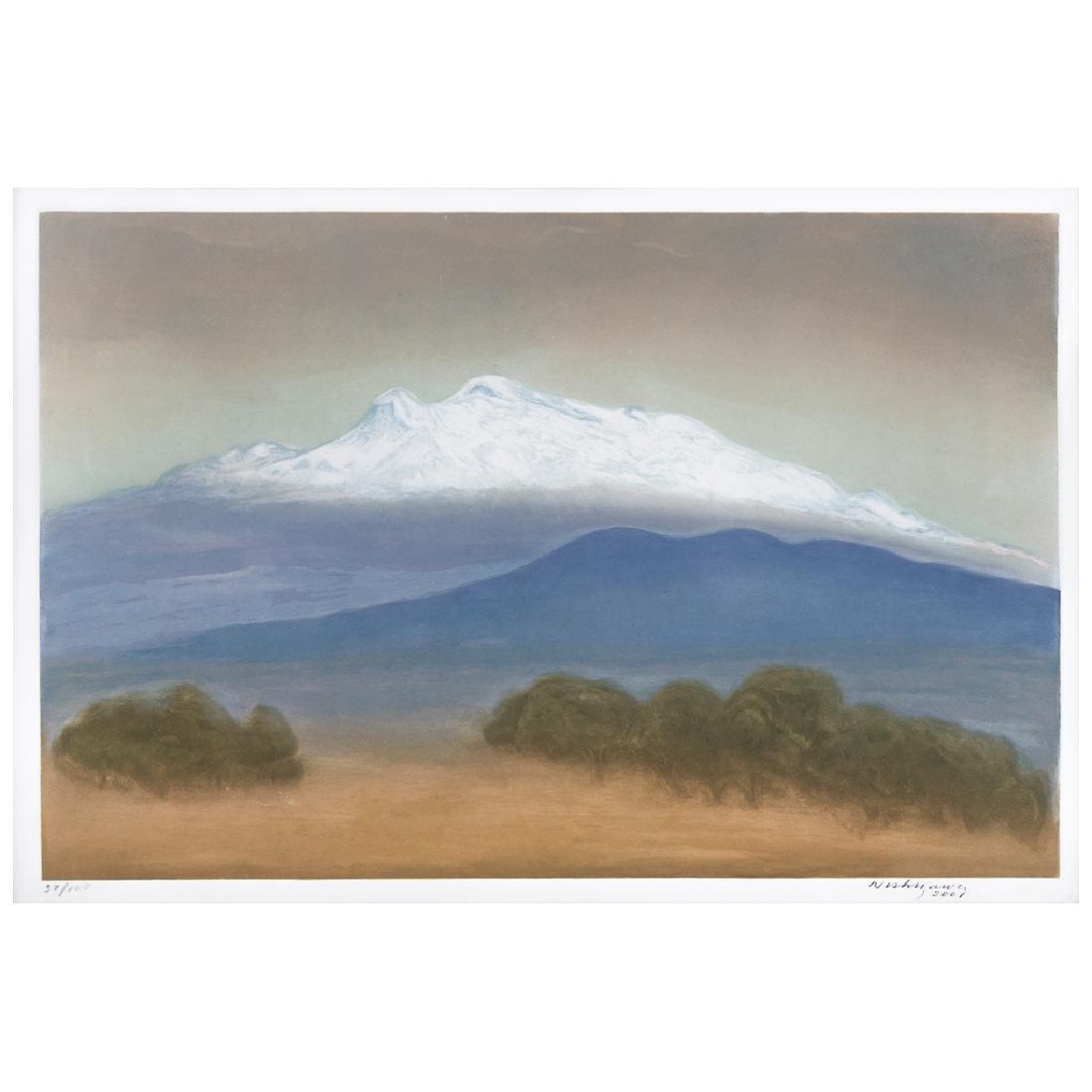LUIS NISHIZAWA, Iztaccihuatl, Signed, Engraving, 37 /