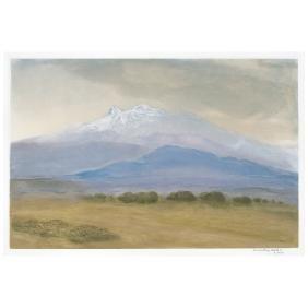LUIS NISHIZAWA, Iztaccihuatl, Signed and dated 2000,