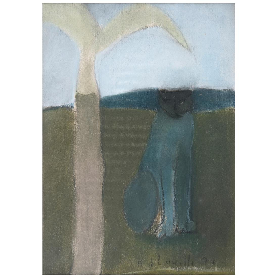 JOY LAVILLE, Untitled, Signed and dated 74, Pastel on