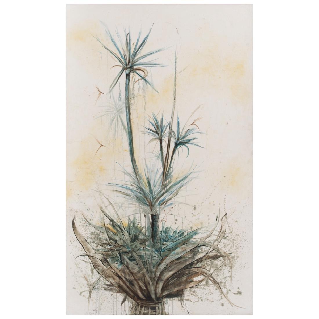 EBER CHaVEZ, Naturaleza II, Signed, Mixed on canvas,