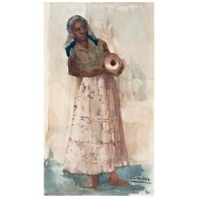 ARMANDO GARCiA NuNEZ, Untitled, Signed, Watercolor on