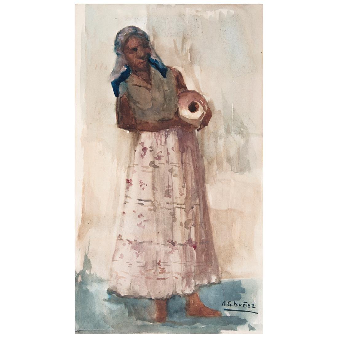 ARMANDO GARCiA NuNEZ, Untitled, Signed, Watercolor on