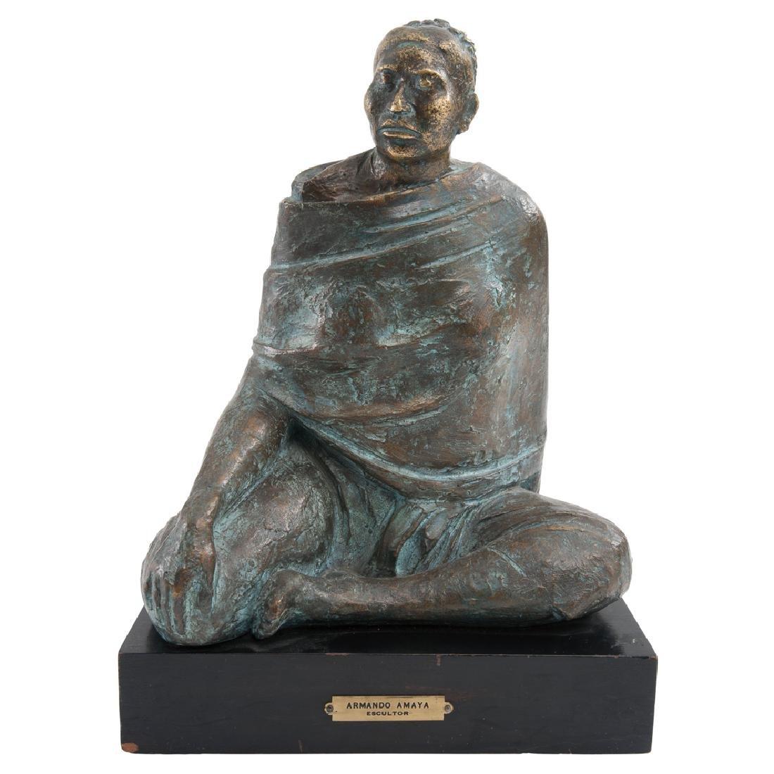 ARMANDO AMAYA, Untitled, Signed and dated 1984, Bronze