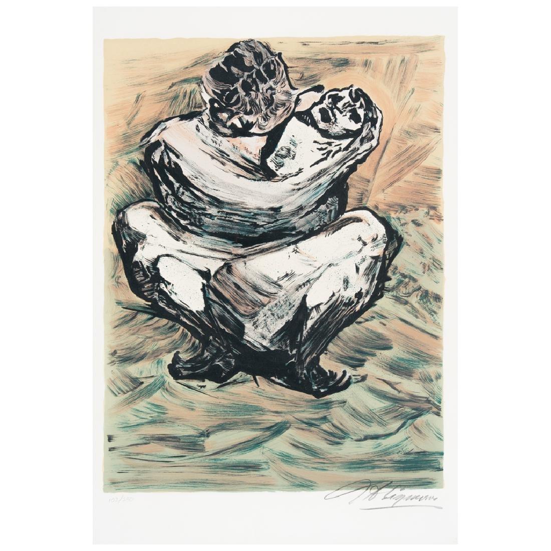 DAVID ALFARO SIQUEIROS, Madre mexicana, 1973, Signed,