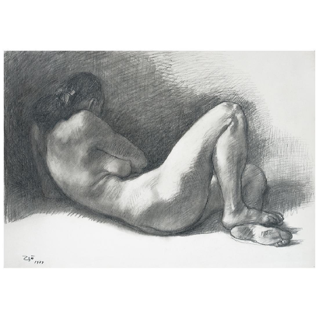 FRANCISCO ZuNIGA, Desnudo #2, Signed and dated 1979,