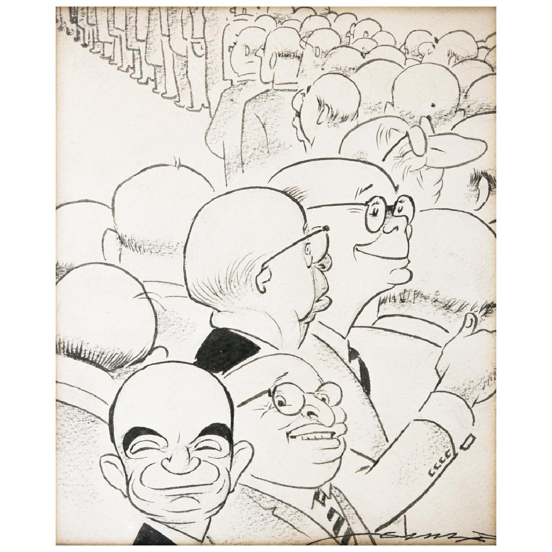 EL CHANGO GARCiA CABRAL, Untitled, Signed, Ink on