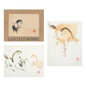 LUCILLE WONG, Yegua feliz, Signed and dated 1987 and