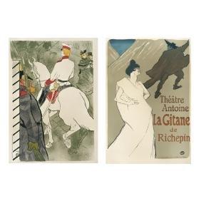 HENRI DE TOULOUSE-LAUTREC, a)Babylone, 34 x 23cm, b)La
