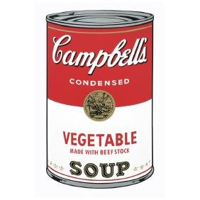 ANDY WARHOL, Campbell s vegetable soup, With Fill in