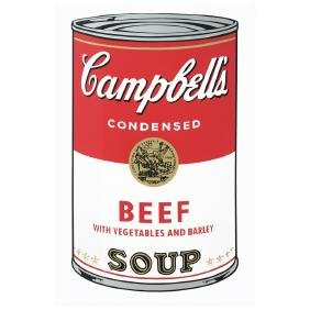 ANDY WARHOL, Campbell s beef soup, With Fill in your