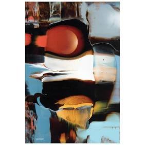 LEONARDO NIERMAN, Mirage, Signed, Acrylic on masonite,
