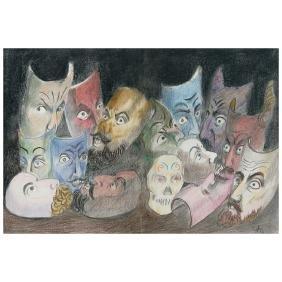 JOSe CHaVEZ MORADO, Mascaras populares, Signed and