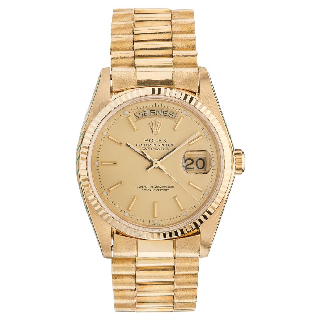 ROLEX OYSTER PERPETUAL DAY - DATE WRISTWATCH REF.