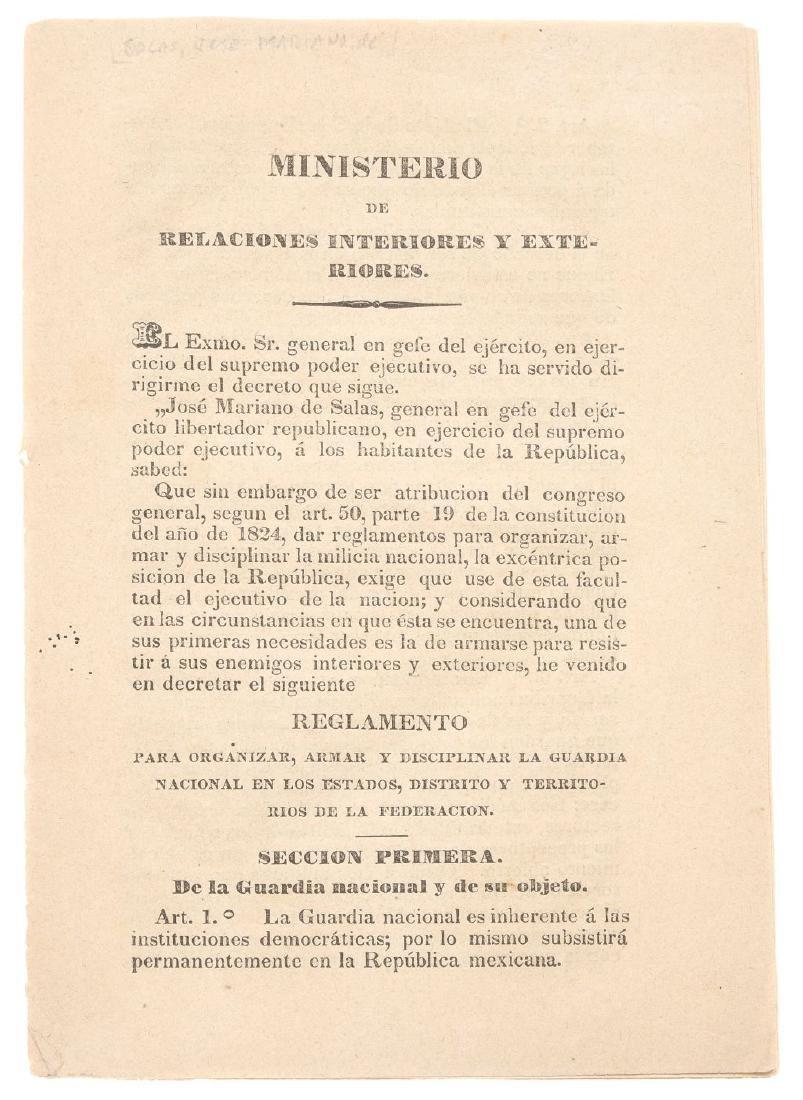 Rejon, Juan Crecencio. Reglamento para Organizar la