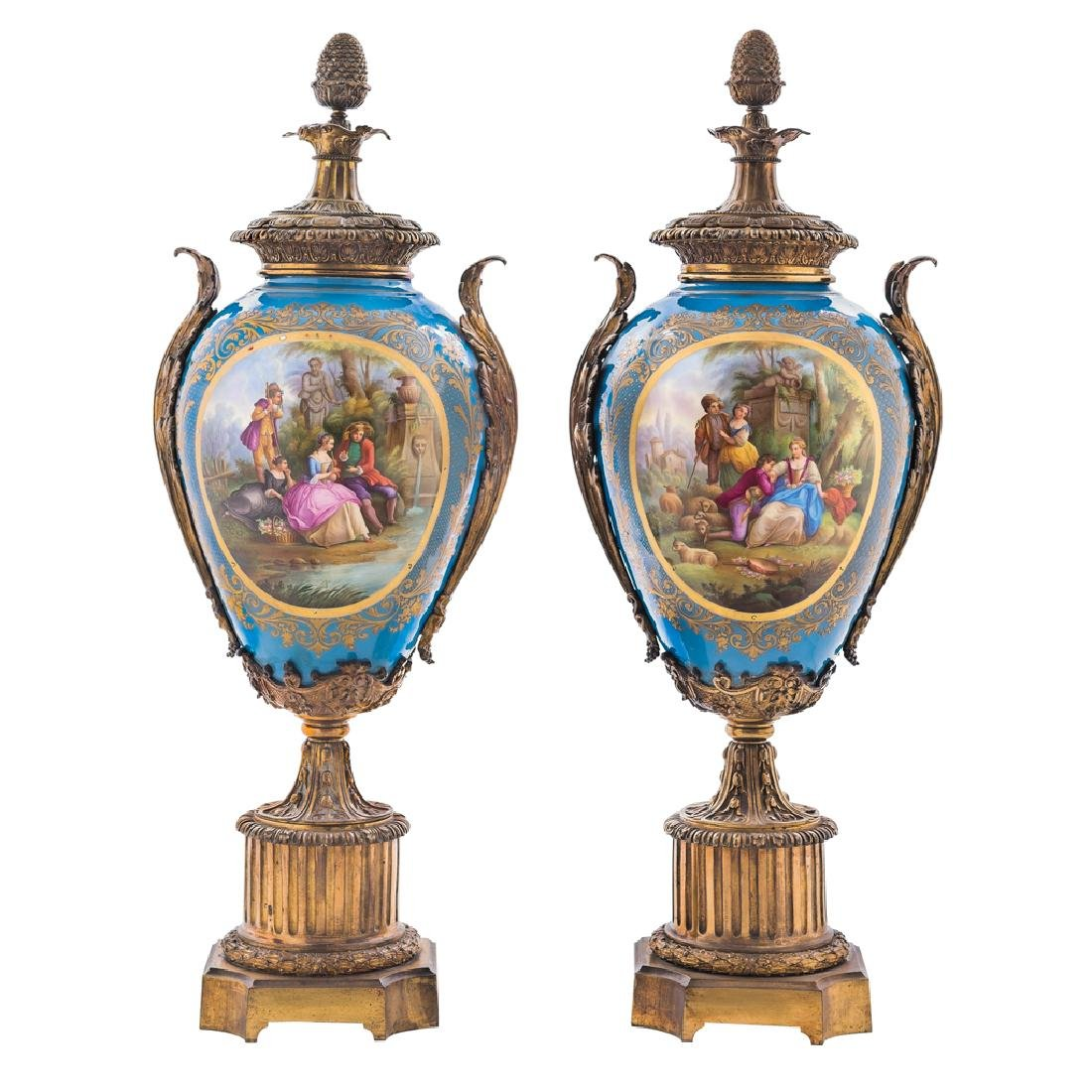 A PAIR OF VASES. FRANCE, 19th CENTURY. Sèvres style